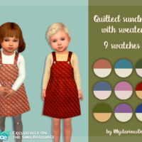 Quilted Sundress With Sweater By Mysteriousoo