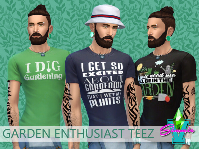Sims 4 Garden Enthusiast Teez by SimmieV at TSR