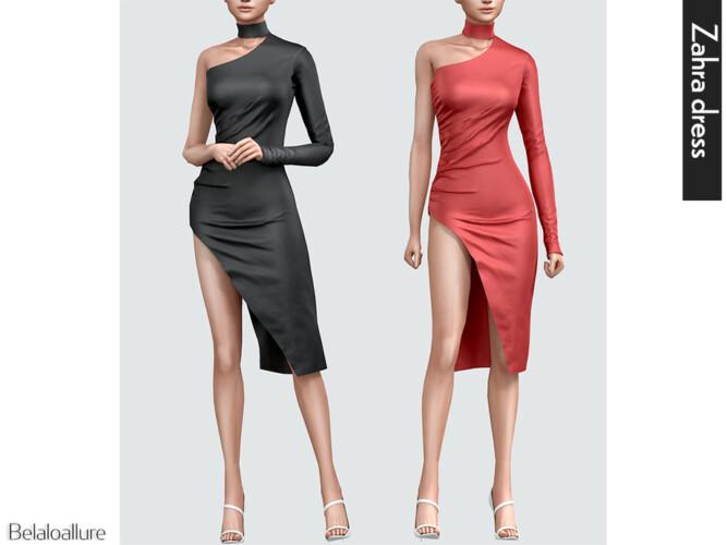 Zahra Silk Dress By Belaloallure
