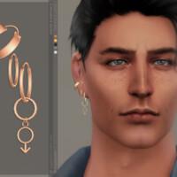 Mars Earrings Right By Sugar Owl
