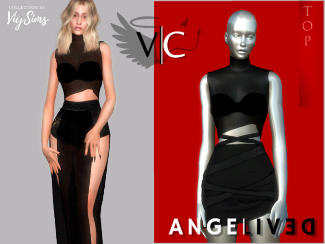 Sims 4 AngeliveD Collection Top VI by Viy Sims at TSR