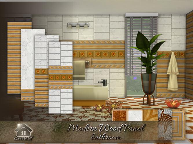 Modern Wood Panel Bathroom By Emerald