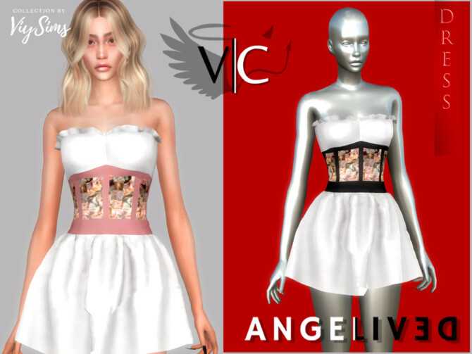 Sims 4 AngeliveD Collection Dress XII by Viy Sims at TSR