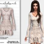 Floral Print Frill Dress Mc220 By Mermaladesimtr
