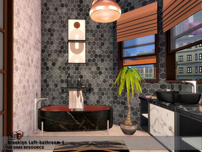 Sims 4 Brooklyn Loft bathroom by Danuta720 at TSR