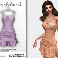 Strappy Frill Bodycon Dress Mc219 By Mermaladesimtr