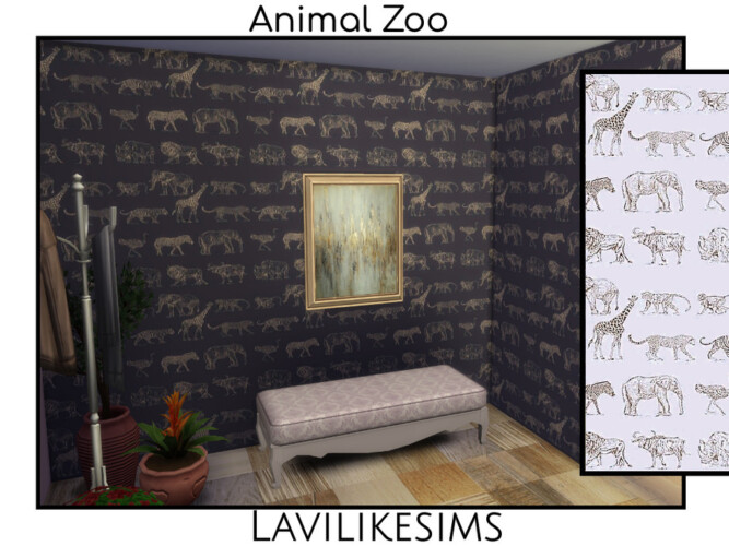 Animal Zoo Wallpaper By Lavilikesims