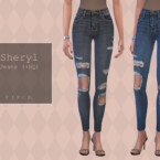 Sheryl Skinny Jeans (ripped) By Pipco