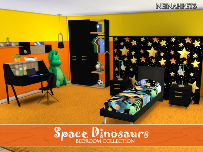 Sims 4 Space Dinosaurs Bedroom by neinahpets at TSR