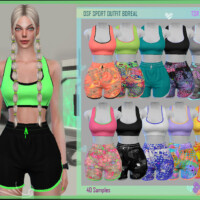 Dsf Sport Outfit Boreal By Dansimsfantasy