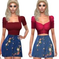 Designer Denim Skirts By Saliwa