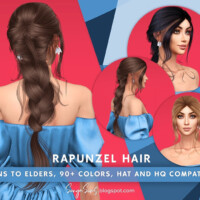 Rapunzel Hair By Sonyasimscc