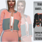 Women's Bomber Jacket By Sims House