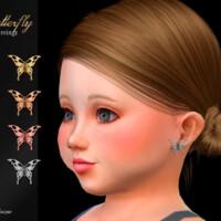 Butterfly Toddler Earrings By Suzue