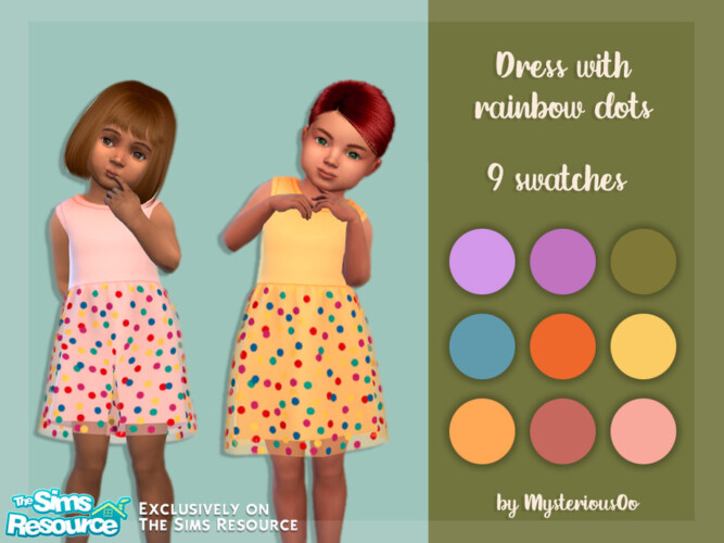 Dress With Rainbow Dots By Mysteriousoo