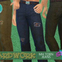 Yardwork Mh Torn Jeans By Simmiev