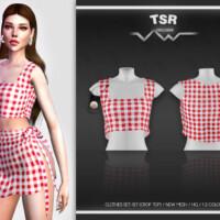 Clothes Set-127 (crop Top) Bd465 By Busra-tr