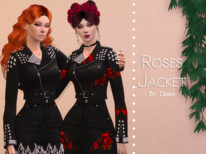 Roses Jacket By Dissia