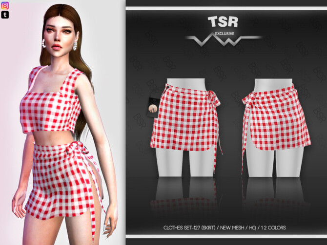 Sims 4 CLOTHES SET 127 (SKIRT) BD466 by busra tr at TSR