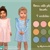 Dress With Plush Hearts By Mysteriousoo