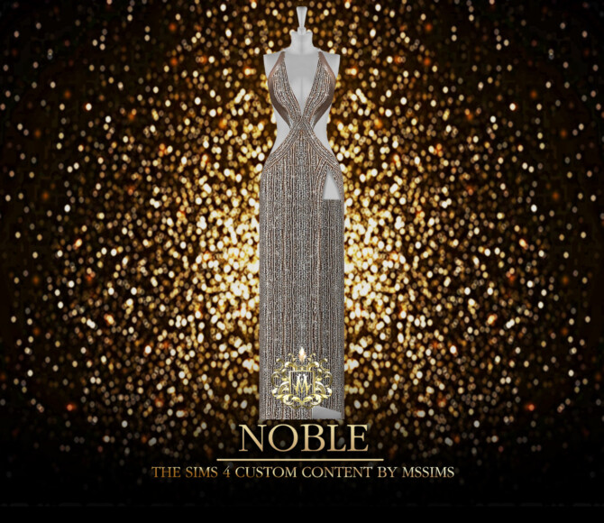 Sims 4 NOBLE GOWN (P) at MSSIMS