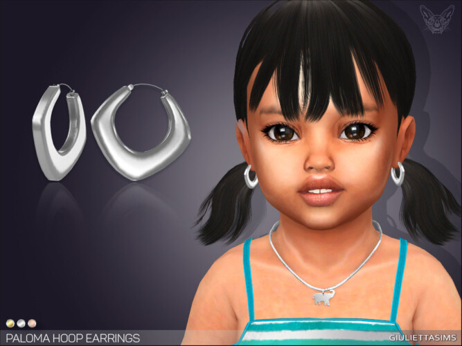 Paloma Hoop Earrings For Toddlers By Feyona