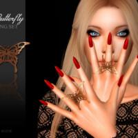 Butterfly Rings By Suzue