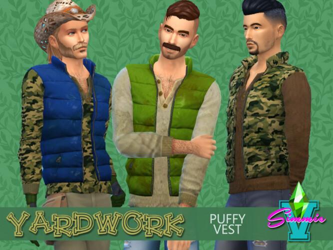 Yardwork Puffy Vest By Simmiev