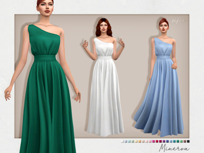 Sims 4 Minerva Gown by Sifix at TSR