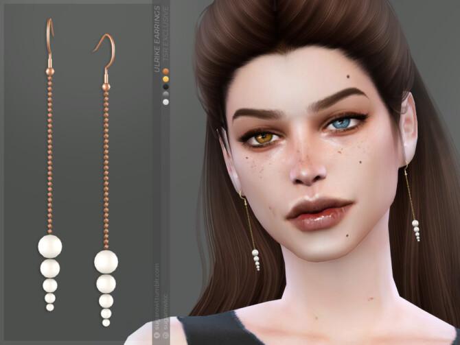 Sims 4 Ulrike earrings by sugar owl at TSR