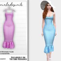 Polkadot Print Frill Dress Mc218 By Mermaladesimtr