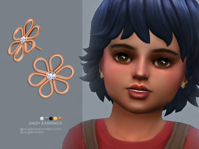 Daisy Earrings Toddlers Version By Sugar Owl