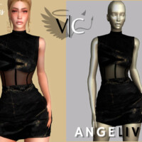 Angelived Collection Dress Xiii By Viy Sims