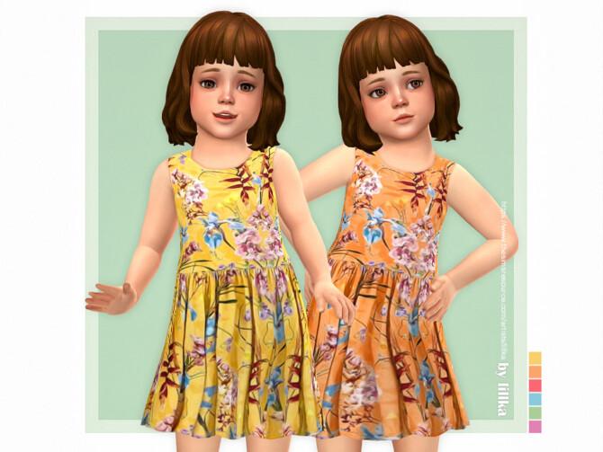 Sims 4 Jonna Dress by lillka at TSR