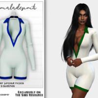Contrast Collar Jumpsuit Mc209 By Mermaladesimtr