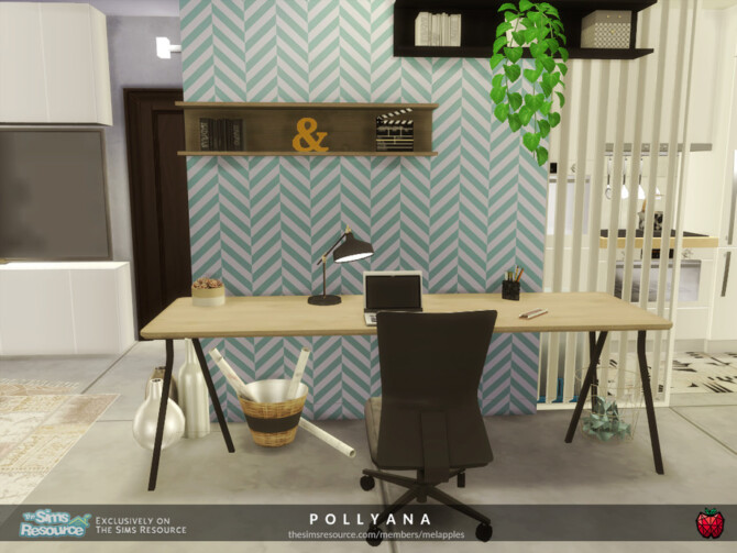 Sims 4 Pollyana apartment by melapples at TSR