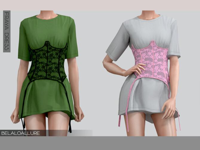 Sims 4 Belaloallure Fraya dress by belal1997 at TSR