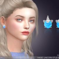 Magic Unicorn Stud Earrings By Feyona