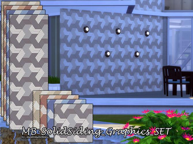 Sims 4 MB Solid Siding Graphics SET by matomibotaki at TSR