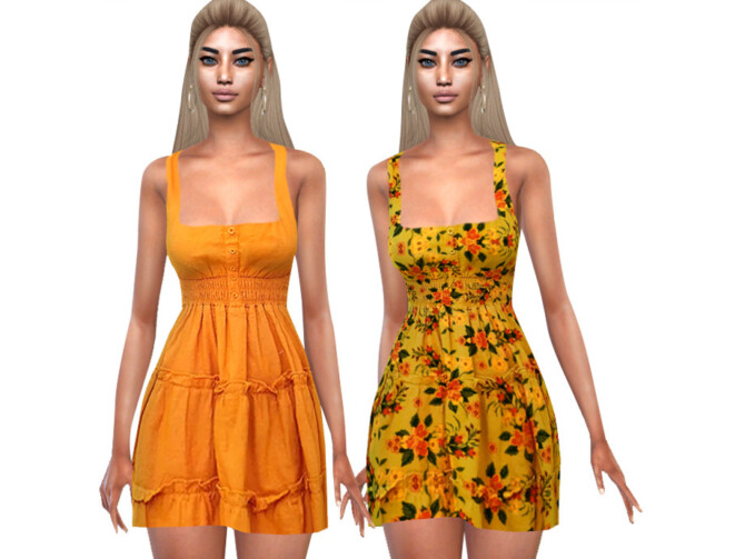 Sims 4 Summer Style Colorful Dresses by Saliwa at TSR