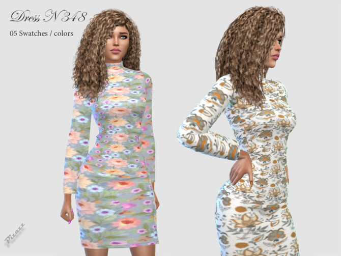 Sims 4 DRESS N 348 by pizazz at TSR