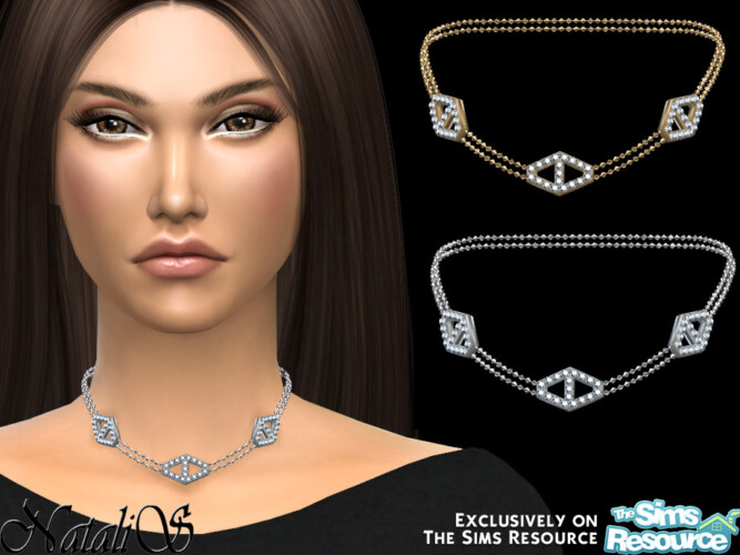 Diamond Hexagon Chain Necklace By Natalis