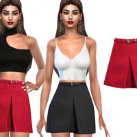 Formal Skirts With Belt By Saliwa