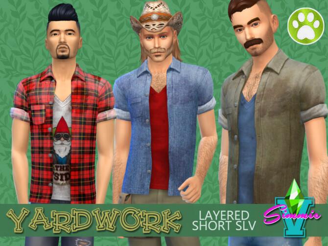 Sims 4 Yardwork Layered Short Sleeve by SimmieV at TSR