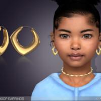 Paloma Hoop Earrings For Kids By Feyona
