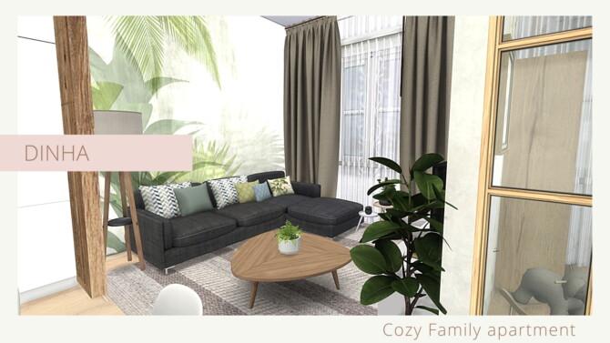 Sims 4 COZY FAMILY APARTMENT at Dinha Gamer
