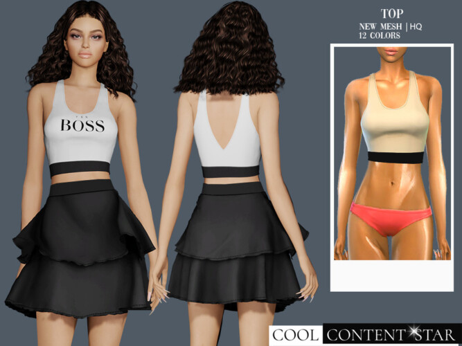 Tank Top By Sims2fanbg
