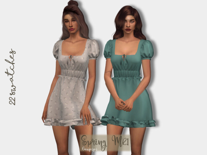 Sims 4 Spring Dress DR416 by laupipi at TSR
