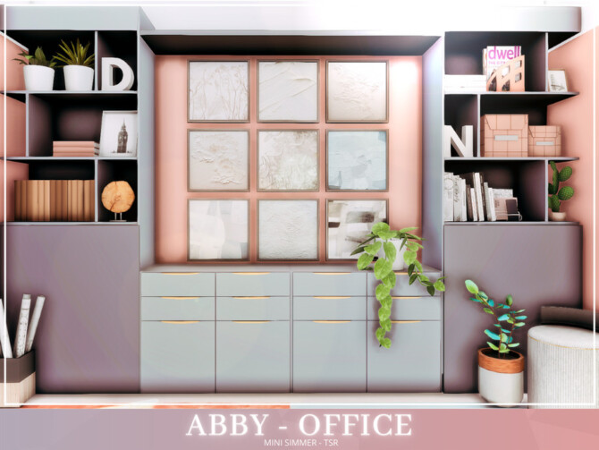 Sims 4 Abby Office by Mini Simmer at TSR