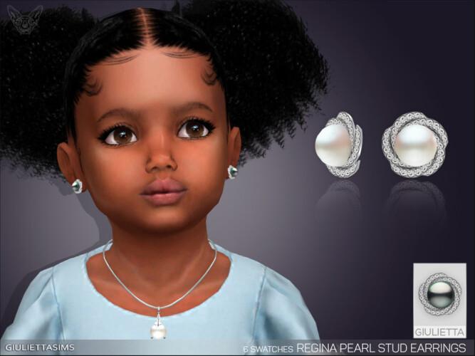 Regina Pearl Earrings For Toddlers By Feyona